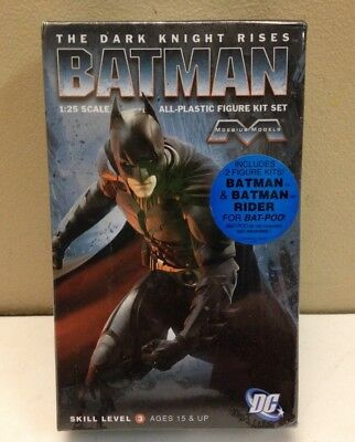 Moebius 937 1/25 Batman Dark Knight Rises 2Pc Figure Set , New In Sealed Box