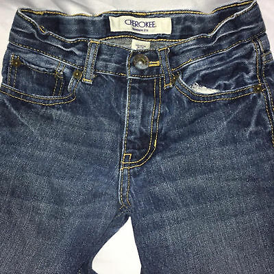 Boys sz 10 Slim Jeans Straight Fit Cut Pants Medium Blue Cherokee Cotton