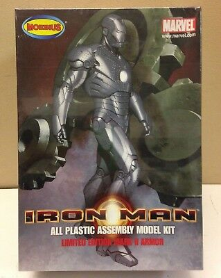 2008 Moebius 910, 1/8 Limited Edition Mark Ii Armor Iron Man, New In Sealed Box