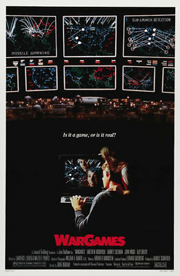 War Games Matthew Broderick cult movie poster print
