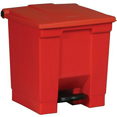 Rubbermaid 8-Gal. Step-On Waste Container (Red) 6143RED NEW