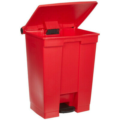 Rubbermaid 18-Gal. Step-On Waste Container (Red) 614500RED New