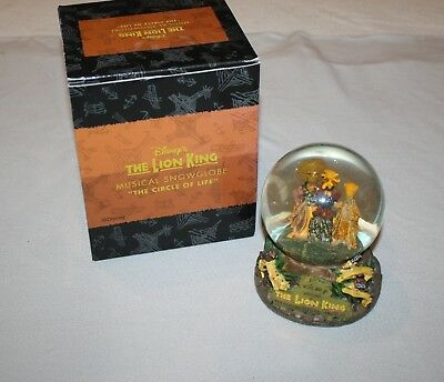 Disney The Lion King The Circle of Life Musical Snow Globe In Box