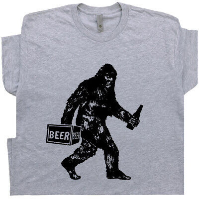 43026e30 ... Funny Beer T Shirt Bigfoot Sasquatch Mens Tee Vintage Alcohol Drinking  Graphic 8