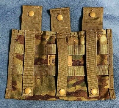 Official Us Army Molle Ii Triple Magazine Pocket (30 Round) Camouflage Mag Pouch