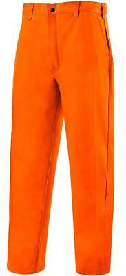 "Steiner 104-3234 Weld Lite 9-Ounce Flame Resistant Cotton Orange Pants 32"" x 34"""