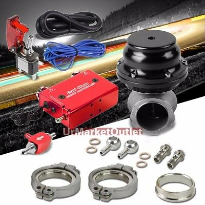 RED DUAL STAGE Electronic Turbo Charger Boost Control+Black External  Wastegate