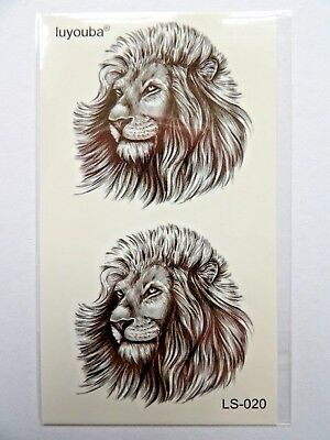 LION TEMPORARY TATTOO (BRAND NEW) 110mm X 60mm LS020