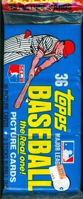 1981 Topps BASEBALL CARD Unopened CELLO Grocery Style Rack Pack MINT
