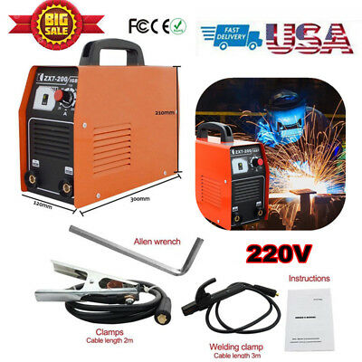 200Amp Stick ARC Welder Inverter Welding Machine DC 220V Soldering Station Tools