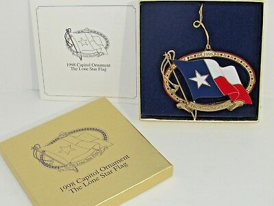 NEW 1998 CAPITOL ORNAMENT THE LONE STAR FLAG of TEXAS