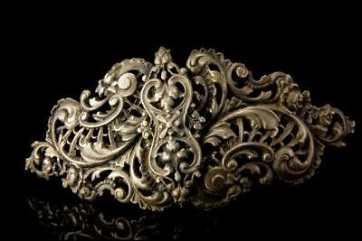 Antique Victorian Sterling Belt Buckle A807-326