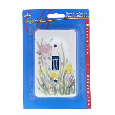 Leviton 1Gang Wildflower Porcelain Toggle Light Switch Cover Wallplate 89501-WFL