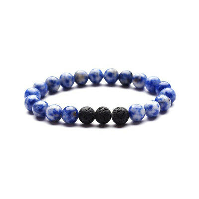 DIY 8mm Beads Natural Aromatherapy Lava Stone Healing Bracelet for Women N185