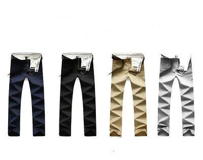 Men Casual Business Stretch trousers regular Straight Pant Plus size Pants