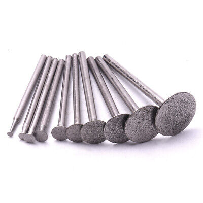 "20Pc Diamond Burr Mounted Point T Shape Grinding Head 0.09"" 1/8'' Shank 2-16MM"