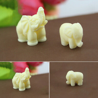 1/10Pcs Mini Elephant Miniature Statues Trunk Up/Down Carved Jade Craft Gift