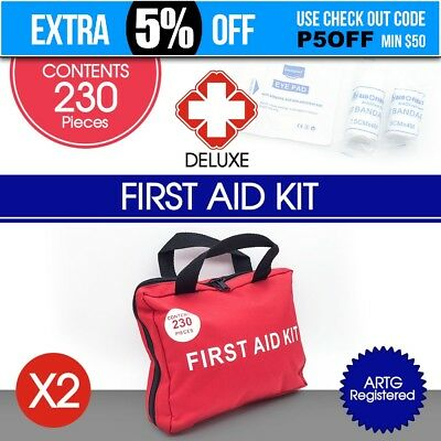 2x 230 Pieces First Aid Kit-A Must Have for Every Family ARTG Registered