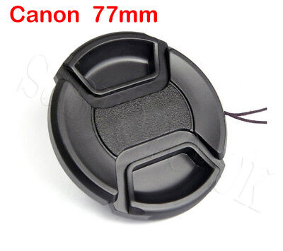 77Mm Centre-Pinch Clip-On Snap-On Front Lens Cap Cover For Canon Eos