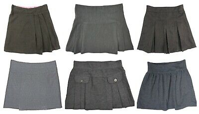 Girls Grey School Skirts Ages 3 Years up 6 Years Varoius Styles Top Makes