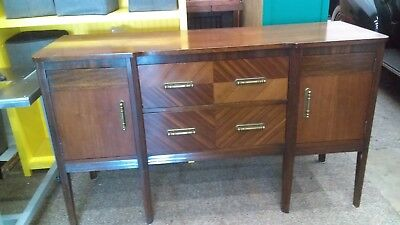 Art Deco Buffet 1940's Chicago SI Frang and Sons original stamp 5 feet long