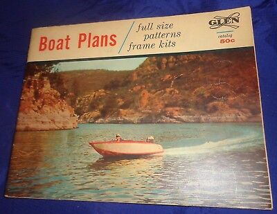 BG708 Vtg Glen L Marine Designs Wooden Wood Boat Plans Catalog 1961