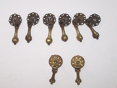 One Original Vintage brass pull with steel bail