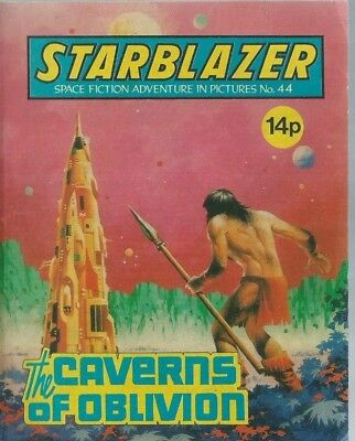 The Caverns Of Oblivion,starblazer Space Fiction Adventure In Pictures,no.44