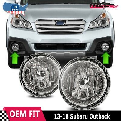 For 2013-2018 Subaru Outback Clear Replacement Fog Light Housing Assembly Pair