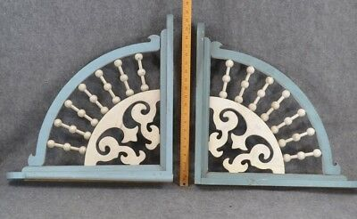 corner brackets stick and ball Victorian large wooden architecture pair 20 in