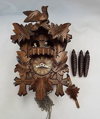Vintage GERMAN Wooden Cuckoo Clock With Swiss Musical Movement - L03