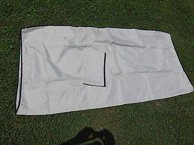 "3 bow 79"" x 84"" W x 6' Long Grey Bimini Top Boat Cover. CANVAS & BOOT ONLY"