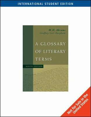 A Glossary of Literary Terms, International Edition by M.H. Abrams Paperback The