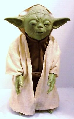 """Vintage Yoda From Star Wars Animated Talking Doll, 12"""" Size Works Great!"""