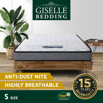 Giselle Bedding SINGLE Size Bunk Bed Trundle Mattress Bonnell Spring Foam 13CM