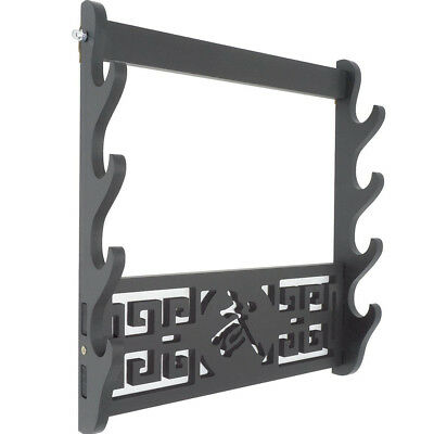 4 Tier Sword Holder Wall Mount Samurai Stand Display Katana Wall Hanger Rack UK