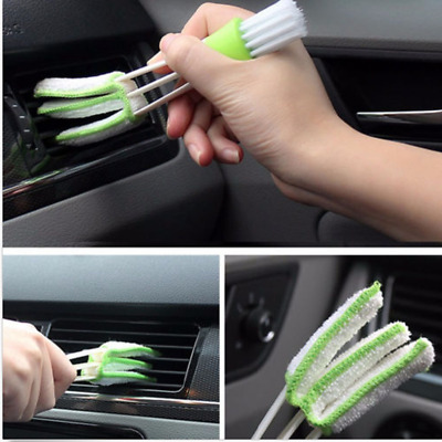 White Mini Clean Car Indoor Air-condition Plastic Brush Tool Car Care Detailing
