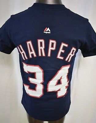 Majestic MLB Youth Boys Washington Nationals Bryce Harper Shirt LOOK S 05bb479c8