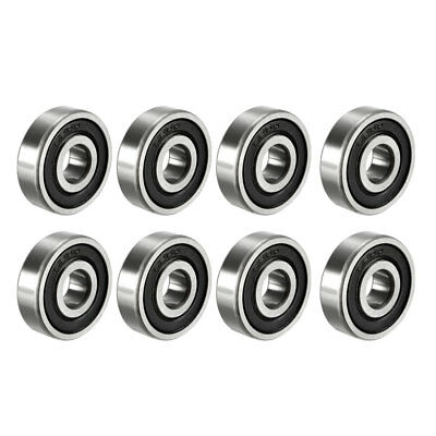 Deep Groove Ball Bearing 6200-2RS Double Sealed 10mmx30mmx9mm Carbon Steel 8Pcs