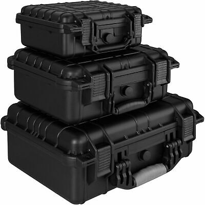 Waterproof Hard Carry Tool Case Bag Storage Box Camera Photography w/ Sponge