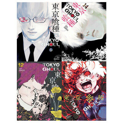 Tokyo Ghoul Series Volume (11-14) 4 Books Collection Set By Sui Ishida NEW