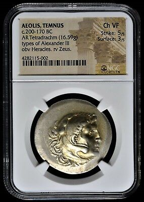 Alexander The Great⭐ Huge(34Mm), Magnificent Tetradrachm.gold Tone.