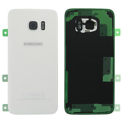 Original Samsung GALAXY S7 EDGE G935F Akkudeckel Deckel Backcover Weiss white