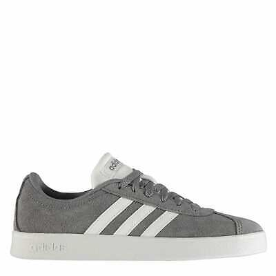 adidas Kids Boys VL Court Suede Childs Low Top Trainers Lace Up Sports Shoes