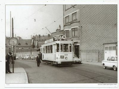Cpa Pk Ak Photo Tram Tramway Bus Trolley-Bus Stib-Mivb Bruxelles Ligne 74