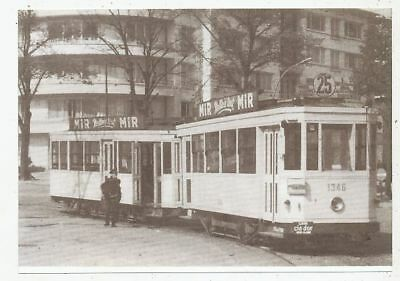 Cpa Pk Ak Photo Tram Tramway Bus Trolley-Bus Stib-Mivb Bruxelles Ligne 25