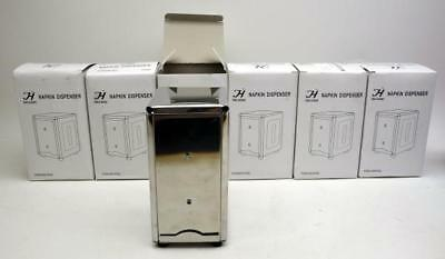 Lot of 6 Stainless Steel Tabletop Napkin Dispensers Consessions Restaurant NIB