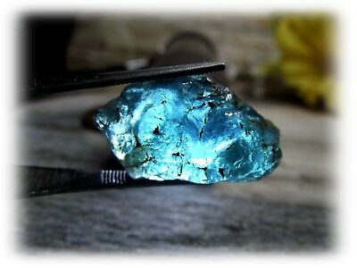 35.85ct Natural Unheated Paraiba-Color Neon Blue Apatite Facet Rough