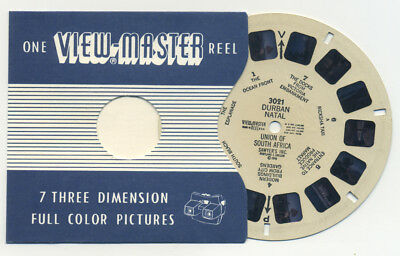 DURBAN NATAL Union of South Africa 1948 RARE Sawyer's ViewMaster Reel 3021