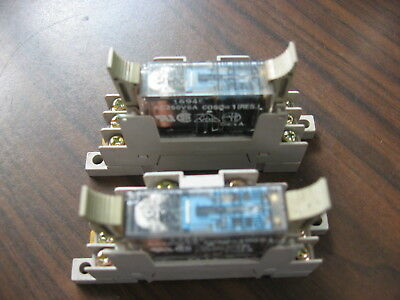 Lot of 2 Omron G7SA-3A1B Cube Relays (24 VDC) With Matching Omron P7SA-10F Base